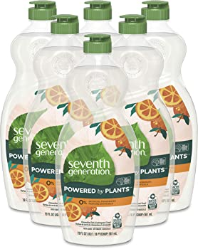 6-Pack Seventh Generation Dish Soap Liquid, 19 oz