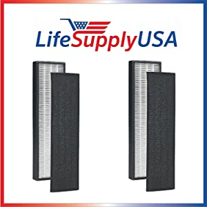LifeSupplyUSA 2 Pack True HEPA Replacement Filter Compatible with GermGuardian FLT4825 FLT-4850 AC4800 Series, Germ Guardian Filter B PET
