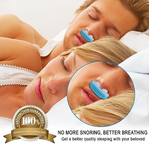 MEXITOP Dilatador Nasal Anti Ronquidos, Ayuda Instantánea para Aliviar Naturalmente los Ronquidos y Mejorar la Respiración, Silicona Suave, ...