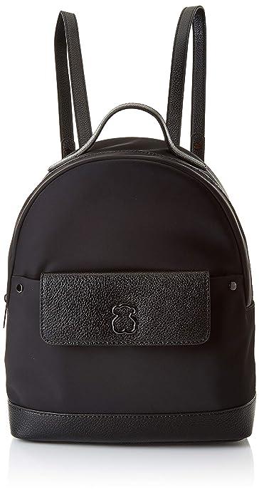 c40eece45 Tous Laina, Bolso mochila para Mujer, (Negro), 11x32x24 cm (W x H x ...