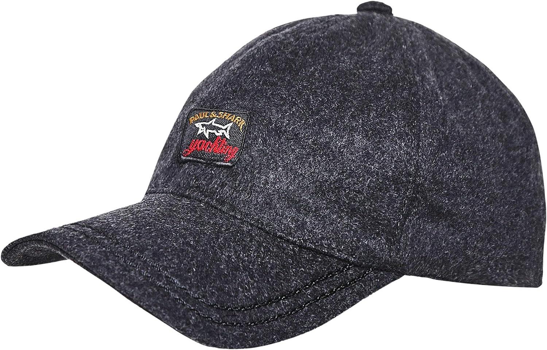 Paul and Shark Men's Wool Baseball Cap Gray