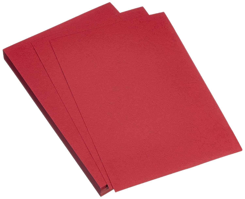 GBC Einbanddeckel für Bindegerät CY040030 Ledergenarbt, Karton matt, 230 g/m, 100 Stück rot 100 Stück rot ACCO Brands
