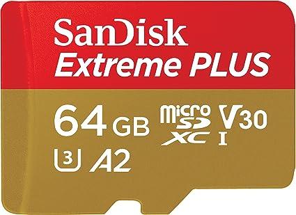 SanDisk Extreme PLUS - Tarjeta de memoria microSDXC de 64 GB con ...