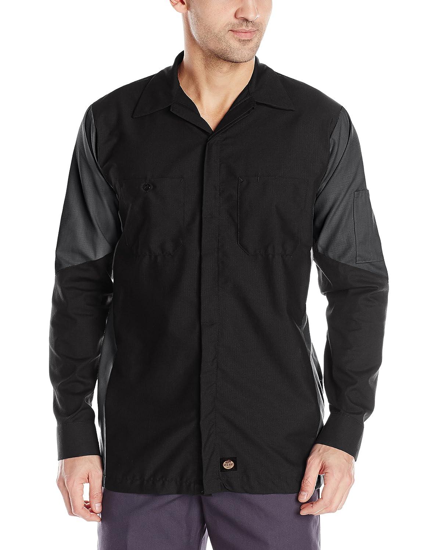 Red Kap メンズ長袖クルーシャツ B00FF1TKHI 4L|ブラック/チャーコール ブラック/チャーコール 4L