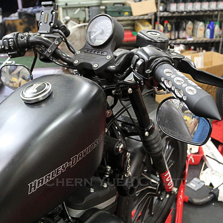 Motorcycle Hand Grips Spike Billet Handlebar Grip for Harley-Davidson Sportster Softail Tour Glide Road King Electra Glide Dyna Matte Black