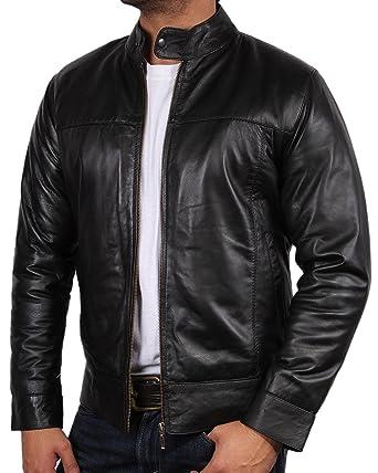 85aeaf8cf981 Brandslock blouson cuir homme vintage moto Retro  Amazon.fr  Vêtements et  accessoires