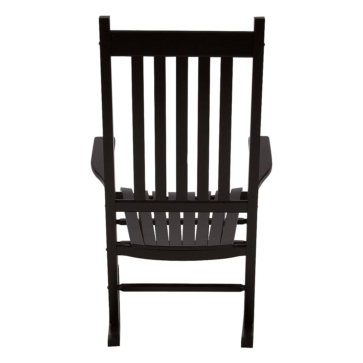 Shine Company 4332BK Vermont Rocking Chair, Black