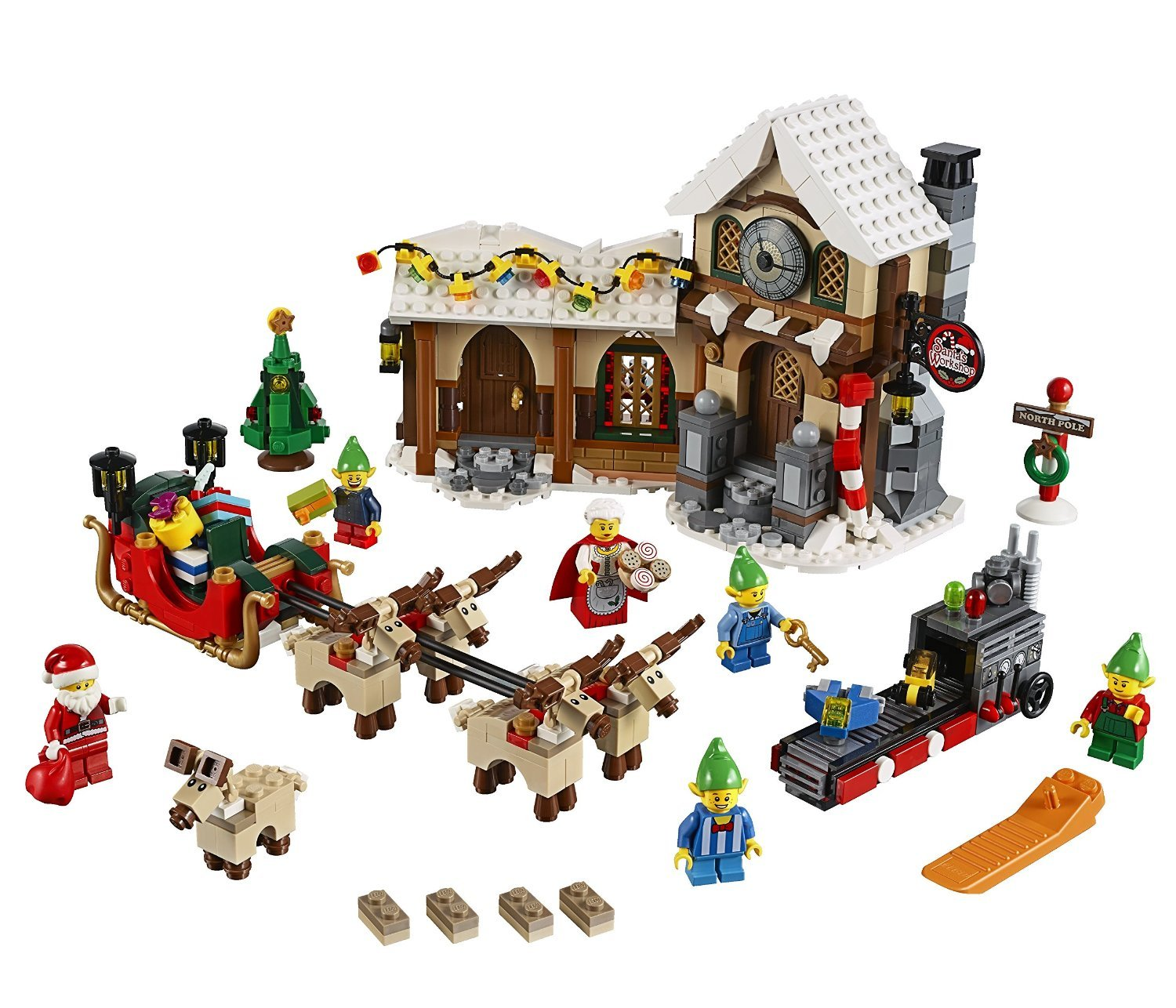 LEGO Creator (883pcs) Santa's Workshop Christmas Building Block Toys