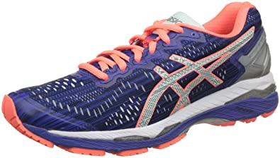 info for 5fb38 8b4e0 ASICS Women's Gel-Kayano 23 Lite-Show Blue, Silver and Flash Coral Running  Shoes