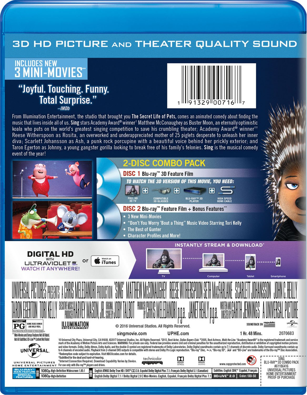 2f3659576f Amazon.com  Sing  Blu-ray   Matthew McConaughey