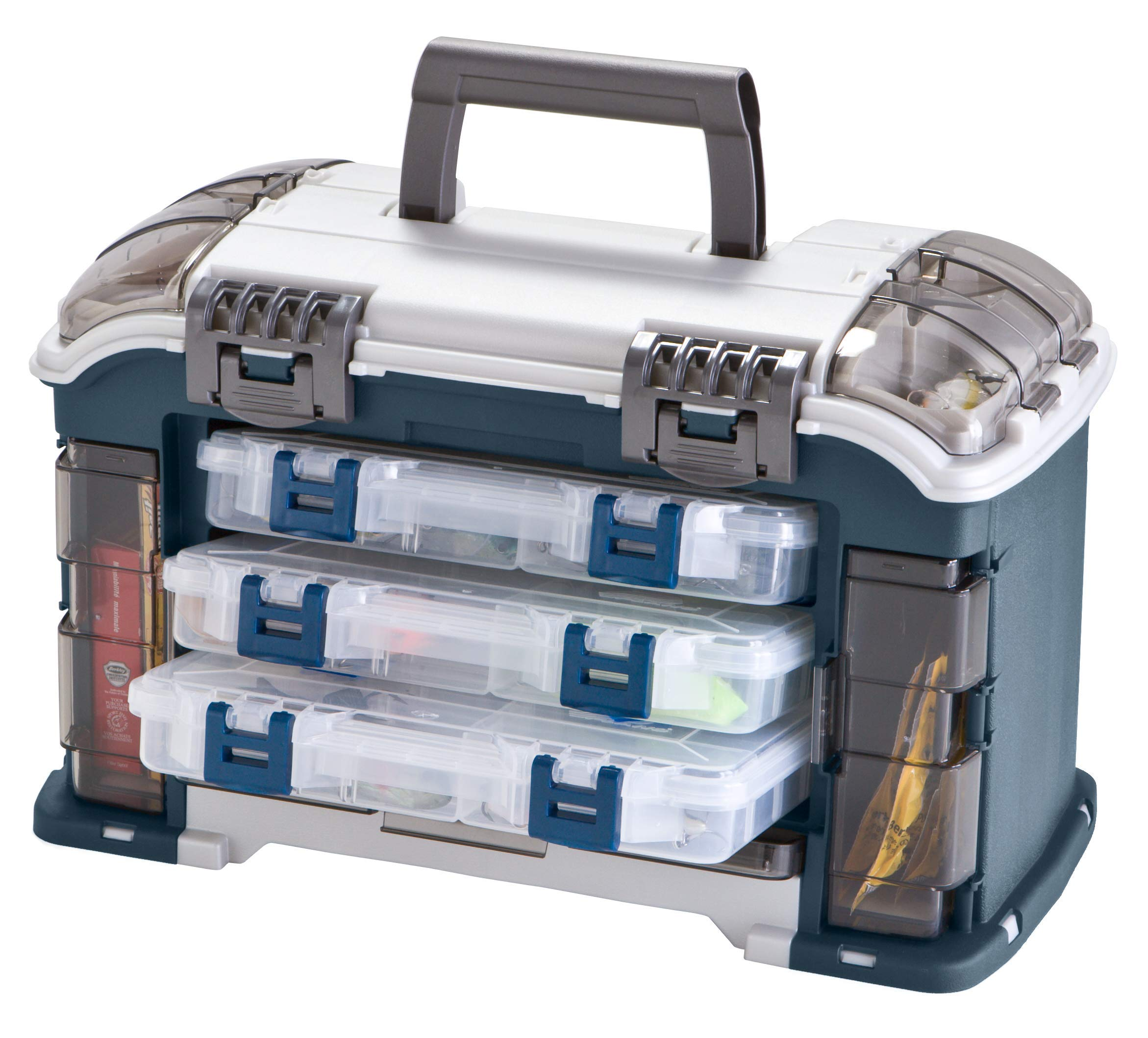 Plano Angled Tackle System with Three 3560 Stowaway Boxes, Fishing Tackle Storage, Premium Tackle Storage by Plano