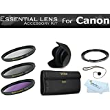 67mm Filter Kit For The Canon Powershot SX30 IS, SX40 HS, SX50 HS, SX60 HS, SX520 HS, SX530 HS, SX540 HS Digital Camera Includes Necessary Filter Adapter (Replaces Canon FA-DC67A) + Lens Hood + More