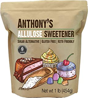 product image for Anthony's Allulose Sweetener, 1 lb, Batch Tested Gluten Free, Keto Friendly Sugar Alternative, Zero Net Carb, Low Calorie