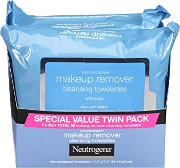 2 X 25-Count Neutrogena Waterproof Makeup Remover Cleansing Towelettes