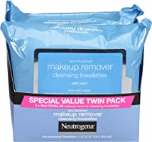 Neutrogena Makeup Remover Cleansing Towelettes, Daily Cleansing Face Wipes to Remove Waterproof Makeup and Mascara,...