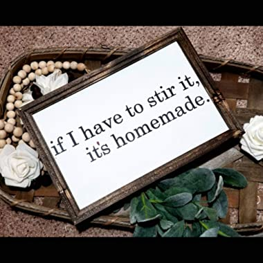 DASON If I Have to stir it its Homemade Sign Kitchen Sign Kitchen Decor Funny Kitchen Sign Farmhouse Decor Signs for Kitchen