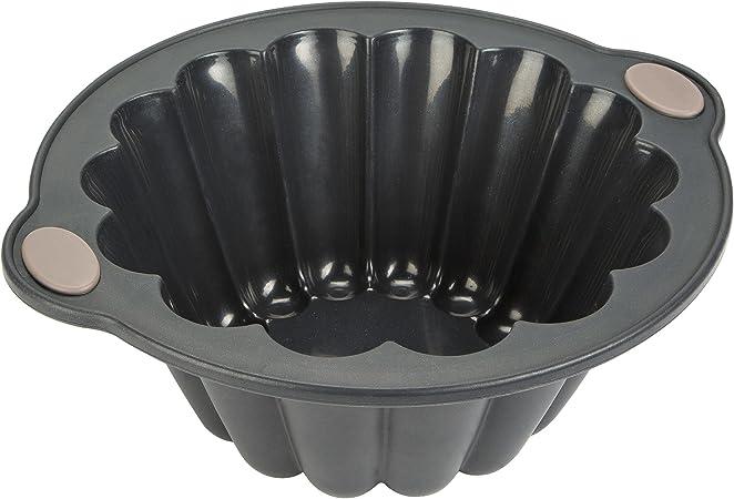 Oferta amazon: Levivo Molde de silicona para brioche, molde de silicona, molde para horno, molde para brioche, molde de silicona para horno, molde de brioche para horno, gris, 20 x 9,6 cm (medidas internas)