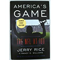 $44 » Jerry Rice Autographed America's Game Signed First Edition Book San Francisco 49ers Stock #159853 - NFL Autographed Miscellaneous Items