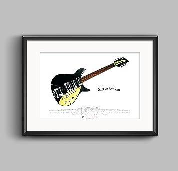 1958 Rickenbacker 325 Capri de John Lennon edición limitada Bellas Artes de impresión Tamaño A3: Amazon.es: Hogar