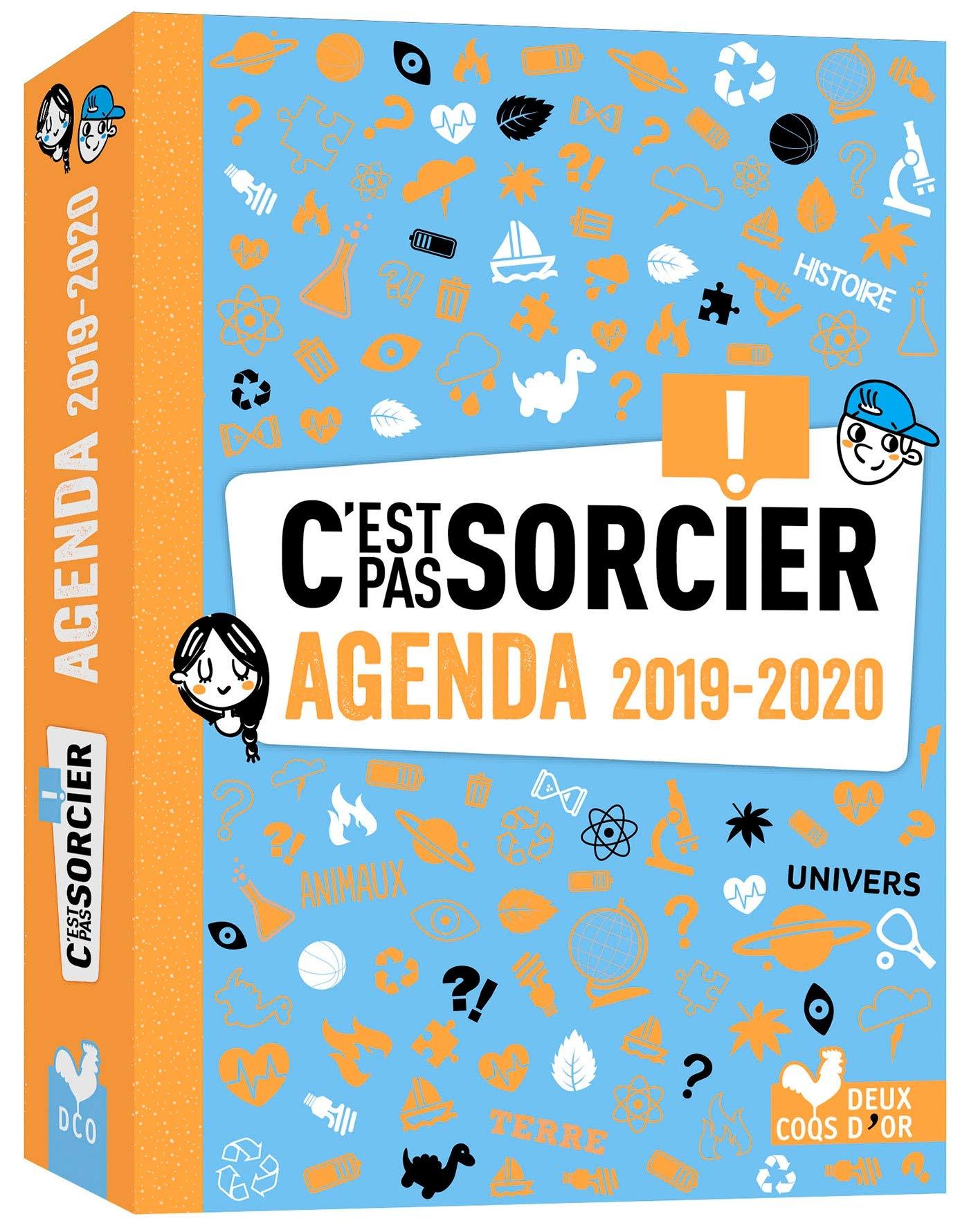 Mon agenda 2019-2020 Cest pas sorcier Livres documentaires ...