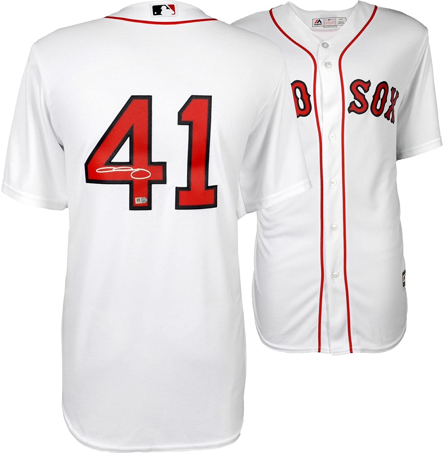 buy popular 7a5b8 cb922 Chris Sale Boston Red Sox Autographed Majestic White Replica ...