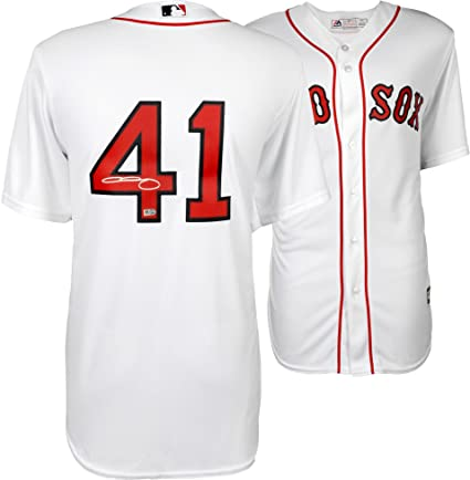 Chris Sale Boston Red Sox Autographed Majestic White Replica Jersey ... 0a5243a79b7