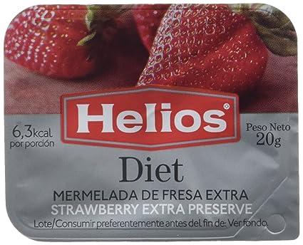 Helios Mermelada Dieta de Fresa, 20 g, paquete de 64