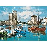 Reeves - 12157 - Peinture Par Numeros 30x40 Cm Port De La Rochelle
