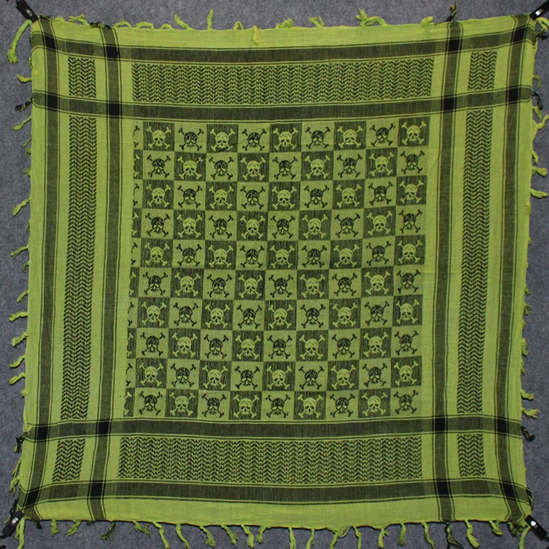 Superfreak Palituch Palituch mit Totenkopf-Muster 1-10+ Farben 100/% Baumwolle Pali Pal/ästinenser Arafat Tuch