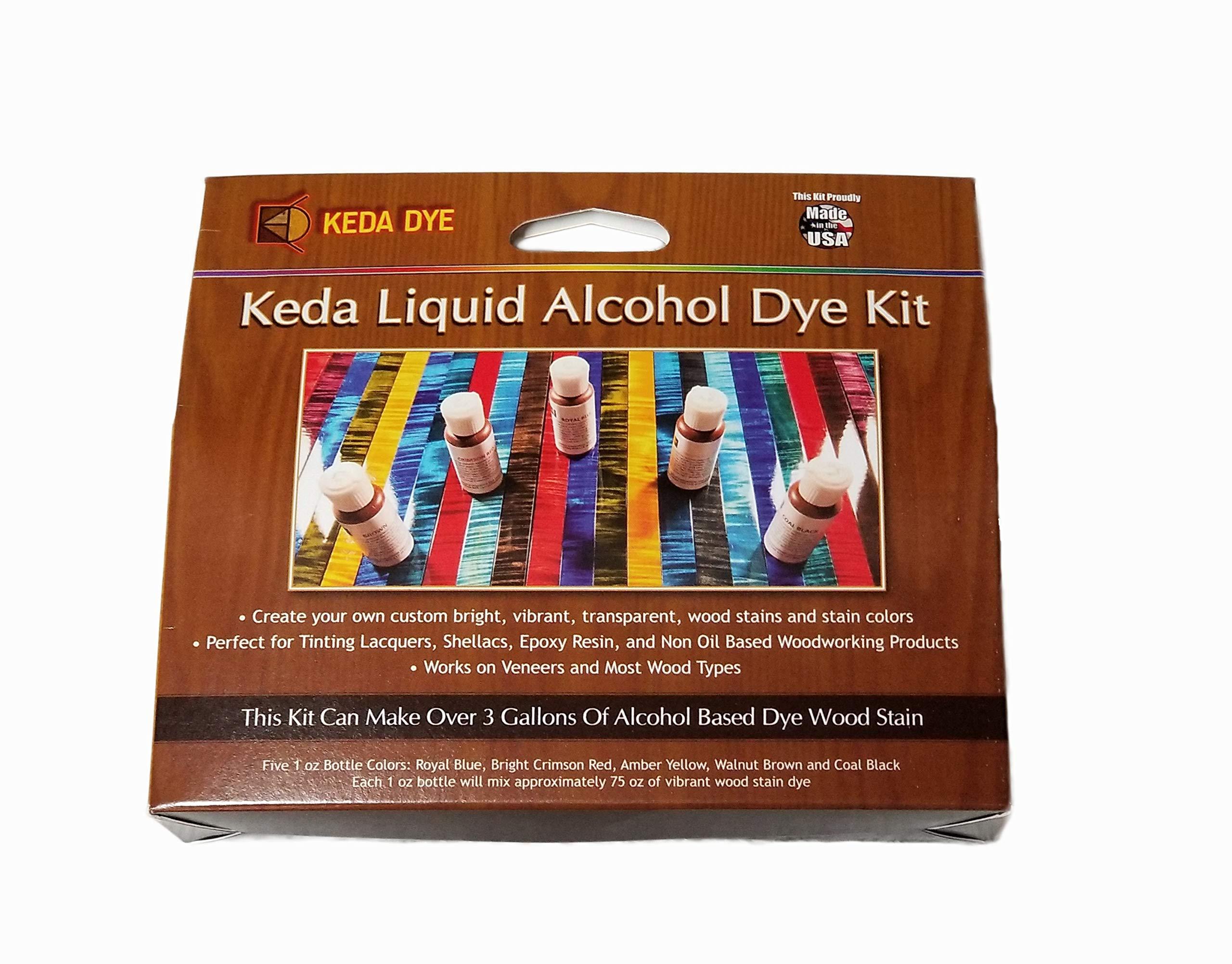 Vibrant Wood Dye Liquid Offered In 5 Color Liquid Dye Kit - Solvent Alcohol Dye by Keda Dye