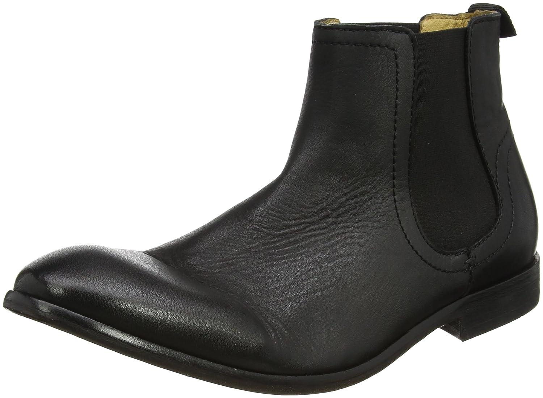 Hudson London Patterson Herren Chelsea Boots Schwarz (Black)