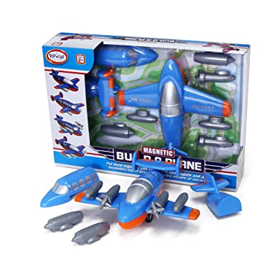 Popular Playthings Magnetic Build-A-Vehicle (Plane): Toys & Games