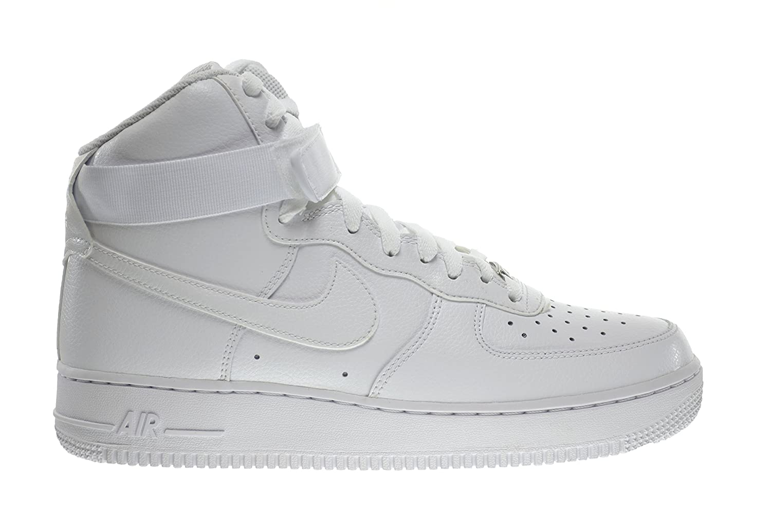 Nike Air Force 1 Haute Mens Collier Noir Et Blanc