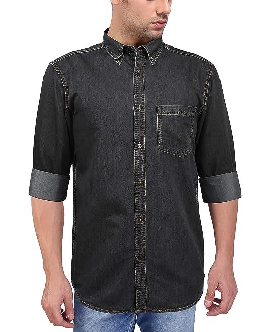 f9003eaad1b FLAGS Men s Casual Denim Shirt (Code  2541)  Amazon.in  Clothing ...