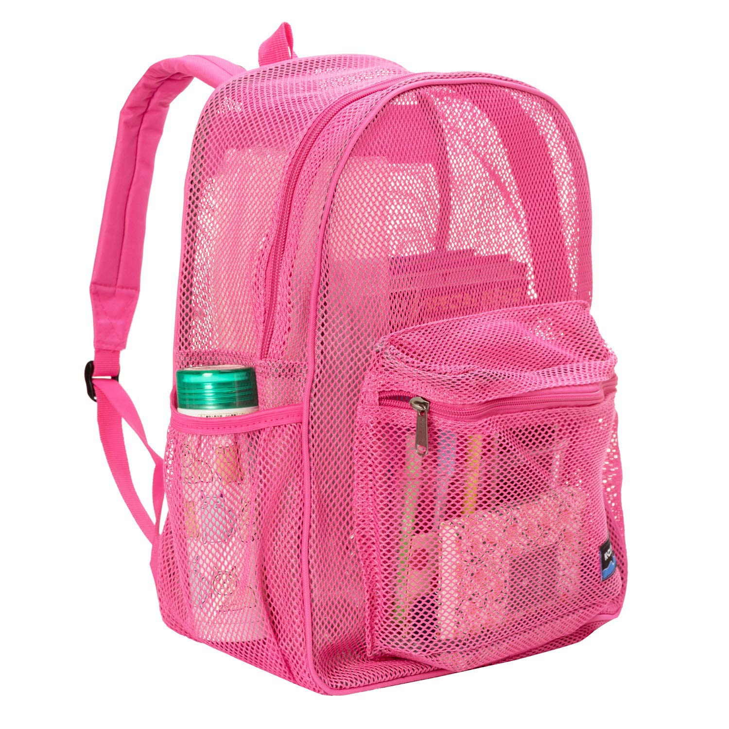 Heavy Duty Classic Student Mesh Backpack Black NiceAndGreat Padded Straps