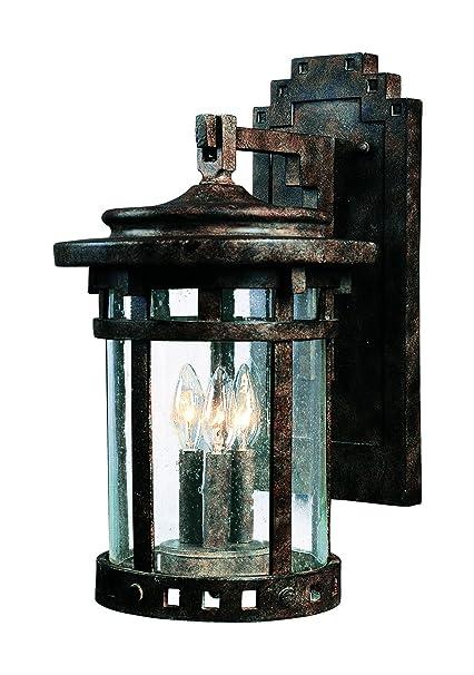 maxim 3134cdse santa barbara cast 3 light outdoor wall lantern
