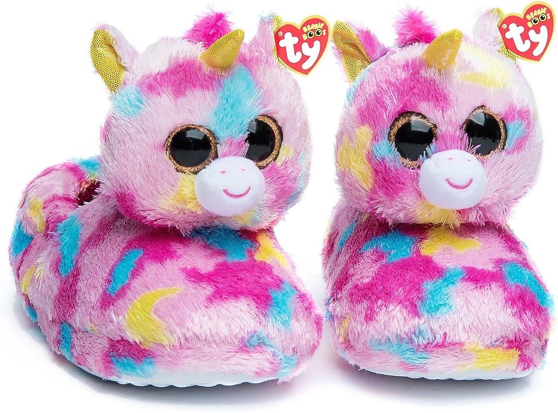 Ty Beanie Boos Kids Girls Big Head Animal Toy Non Skid Plush Slippers