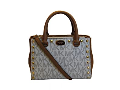 3151966990ff52 Image Unavailable. Image not available for. Color: Michael Kors Kellen  Studded Extra Small Satchel - Vanilla/Acorn
