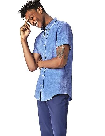 c58d4896a9a2d find. Camisa Entallada de Puro Lino Para Hombre  Amazon.es  Ropa y  accesorios