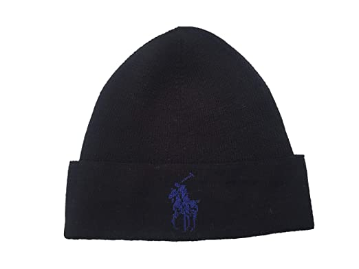 Polo Ralph Lauren Men`s Lightning Bolt Wool Hat (Black(PP0015-001 ... 867b64c775