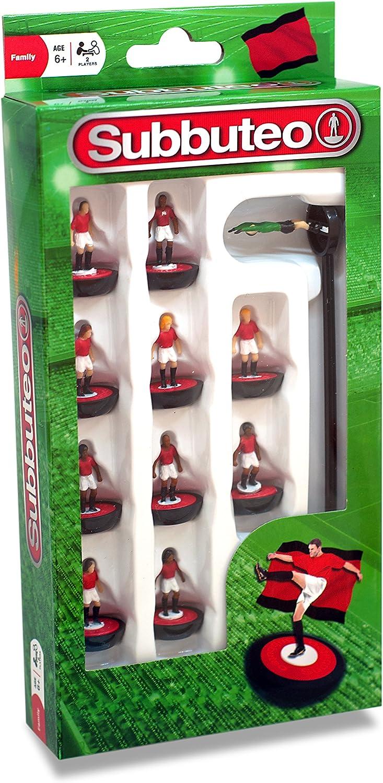 Subbuteo 3415 - Juego de Jugadores, Color Rojo, Blanco y Negro ...