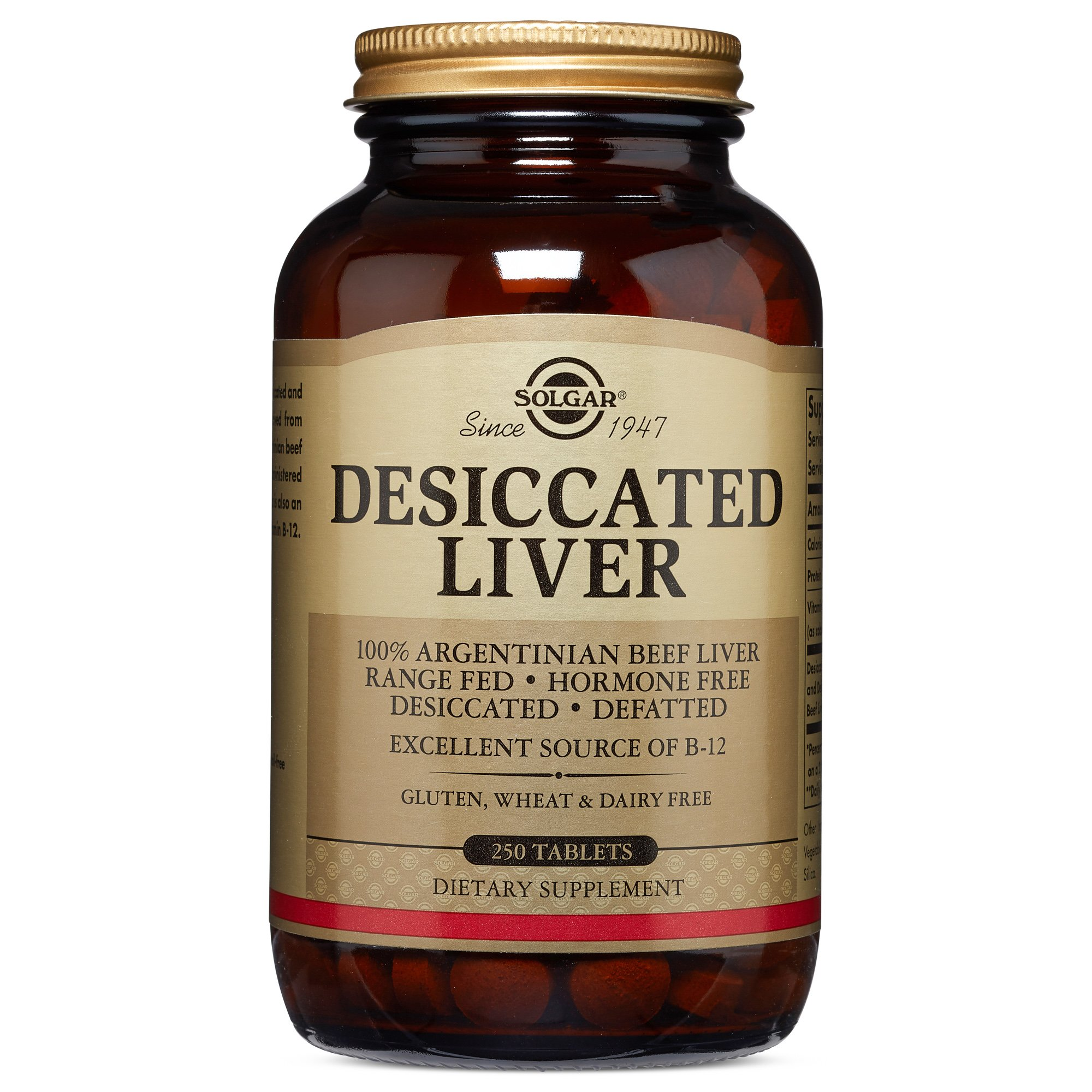 Solgar - Desiccated Liver, 250 Tablets