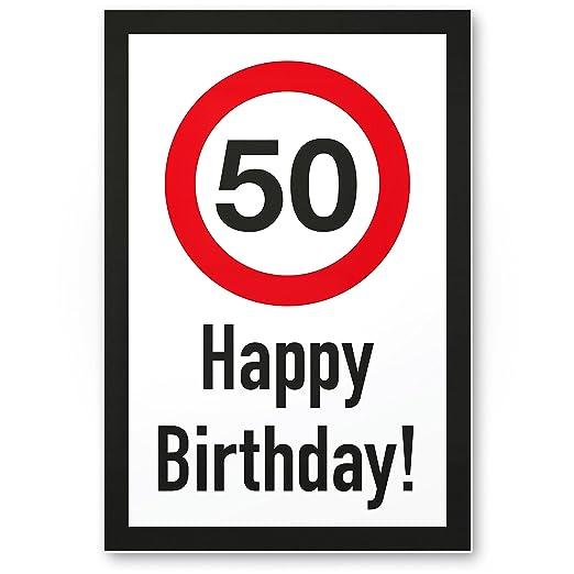 DankeDir!. 50 años Happy Birthday - Letrero plástico Regalo ...