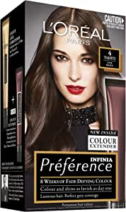 L'Oréal Paris Préférence Permanent Hair Colour - 4 Tahiti (Intense, Fade-Defying Colour)