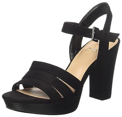 7646589, Escarpins Femme - Noir - Noir (Nero 6), 38 EU EUBata