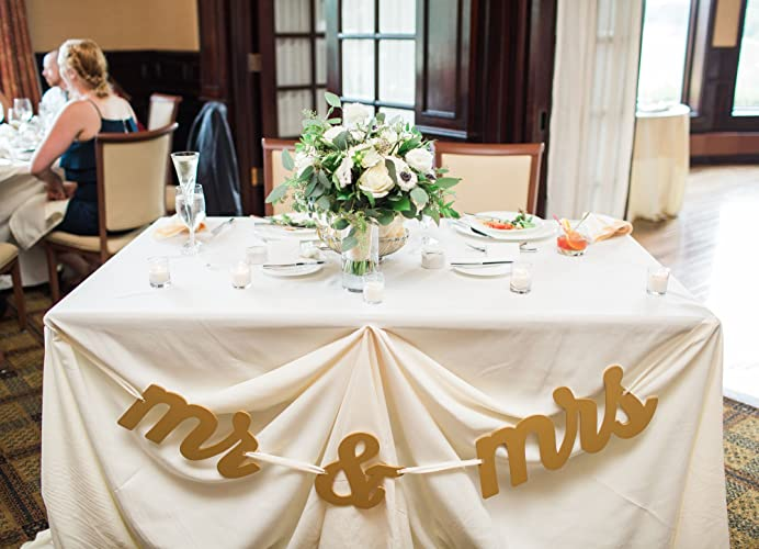 Wedding Signs U0026quot;Mr And Mrsu0026quot; Table Banner For Wedding Sweetheart  Table, Mr