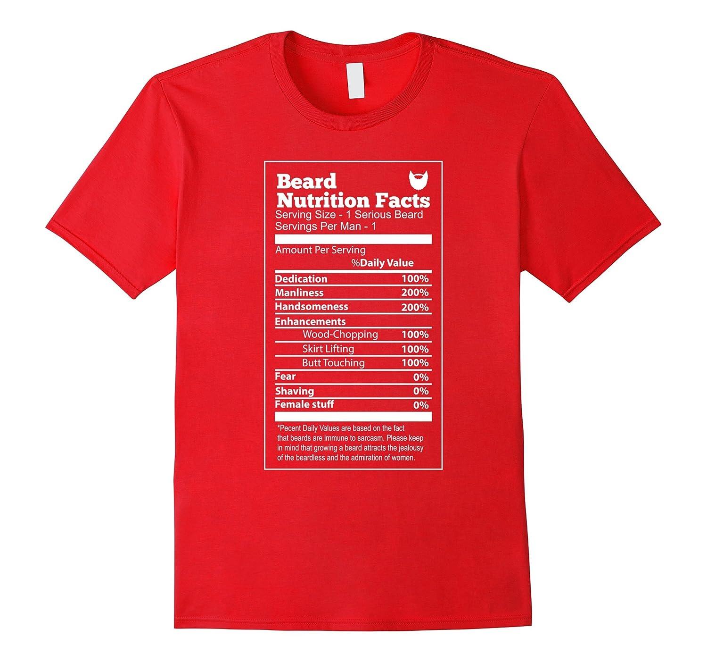 Beard T-shirt  Beard Nutrition Facts-TD