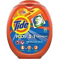 96-Count Tide Pods Liquid Laundry Detergent Pacs, Original Scent, HE Compatible