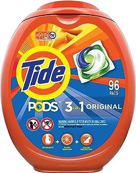 96-Count Tide Pods Liquid Laundry Detergent Pacs