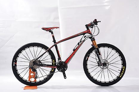 Bicicleta de montaña de Fibra de Carbono Color (Rojo): Amazon.es ...